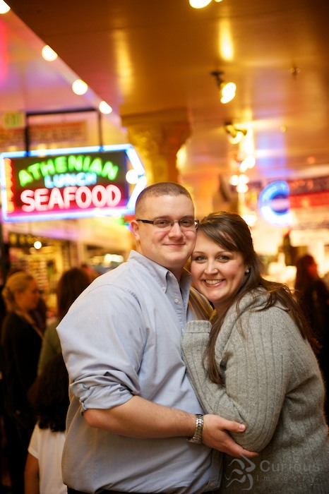 Pike Place Market Engagement Session with Carl Charbonneau and Eliza Law - 1024px version