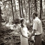 Black and White Photo, Forest Wedding